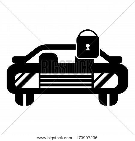 Car locked icon. Simple illustration of car locked vector icon for web