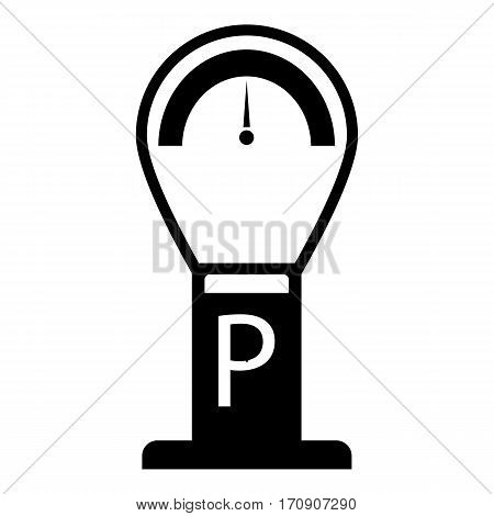 Parking time icon. Simple illustration of parking time vector icon for web