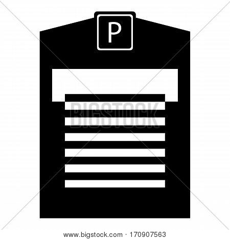 Parking garage icon. Simple illustration of parking garage vector icon for web