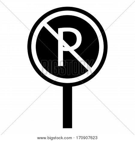 No parking icon. Simple illustration of no parking vector icon for web