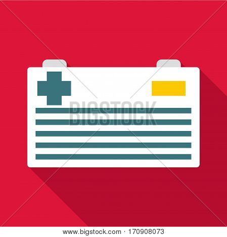 Car battery icon. Flat illustration of car battery vector icon for web