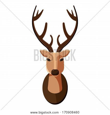Deer head icon. Cartoon illustration of deer head vector icon for web