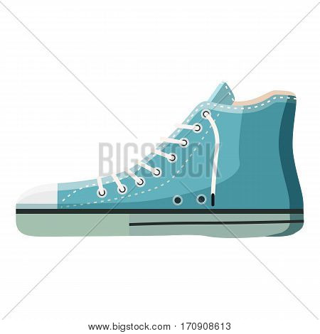 Blue boot icon. Cartoon illustration of blue boot vector icon for web