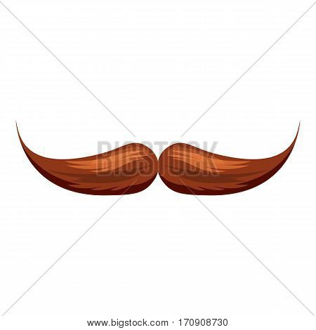 Moustache icon. Cartoon illustration of moustache vector icon for web