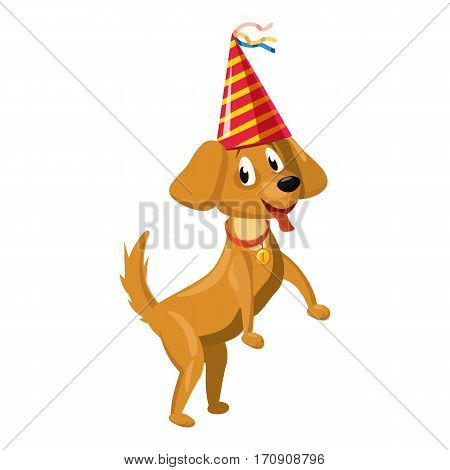 Circus dog icon. Cartoon illustration of circus dog vector icon for web