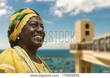 Brazilian woman in Salvador, Bahia