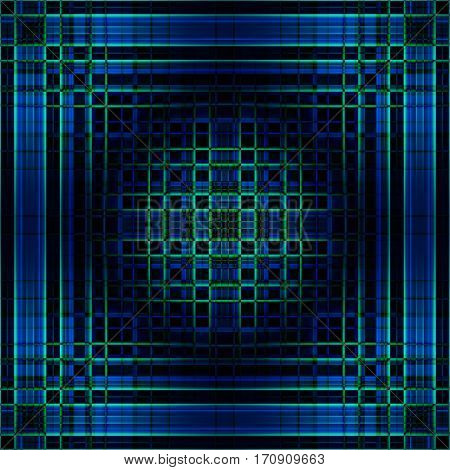 Abstract gradient grid background in blues and greens