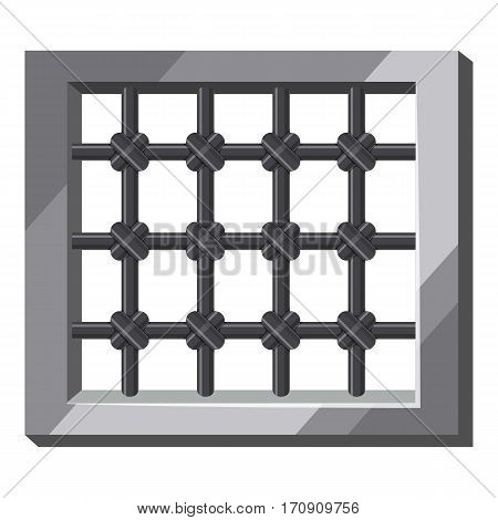 Prison icon. Cartoon illustration of prison vector icon for web