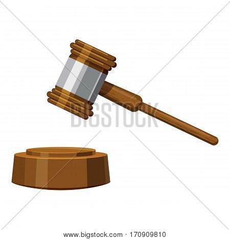 Gavel icon. Cartoon illustration of gavel vector icon for web