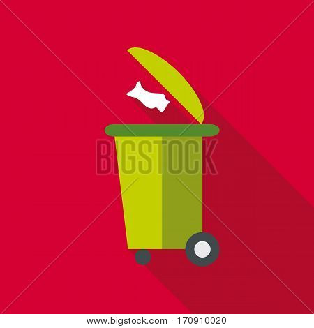 Dumpster icon. Flat illustration of dumpster vector icon for web