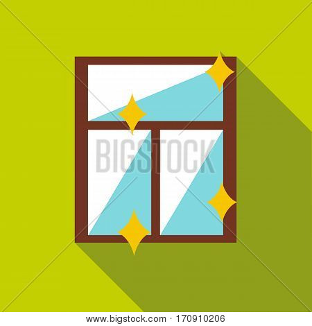 Clean window icon. Flat illustration of clean window vector icon for web