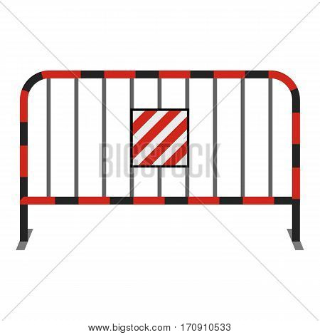 Steel barrier icon. Cartoon illustration of steel barrier vector icon for web