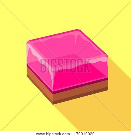 Fruit jelly icon. Flat illustration of fruit jelly vector icon for web