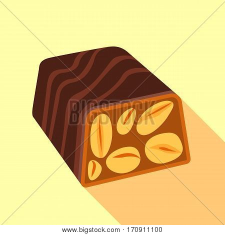 Nut candy icon. Flat illustration of nut candy vector icon for web