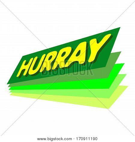 Hurray icon. Pop art illustration of hurray vector icon for web