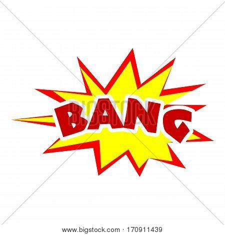 Bang icon. Pop art illustration of bang vector icon for web