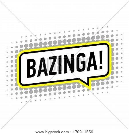 Bazinga icon. Pop art illustration of bazinga vector icon for web