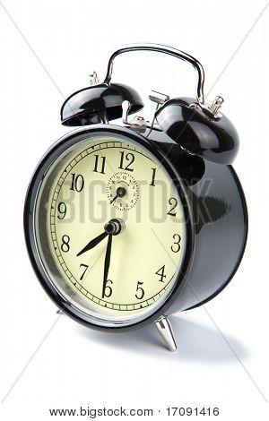alarm clock isolated over white