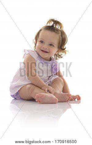 Beautiful Cheerful Girl