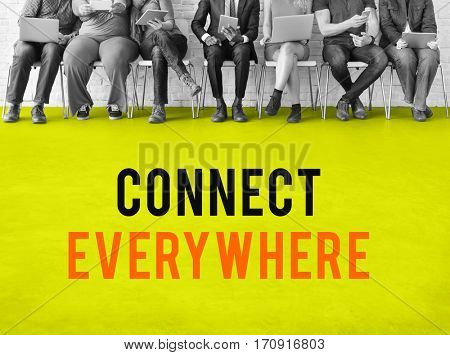 Technology online social media connection