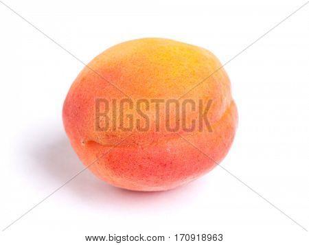 Big ripe apricot isolated on white background