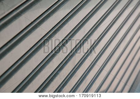 iron louver door on building texture and background