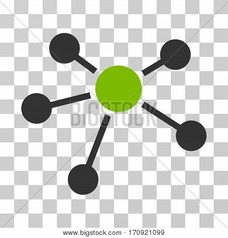 Connections icon. Vector illustration style is flat iconic bicolor symbol eco green and gray colors transparent background. Designed for web and software interfaces.