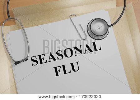 Seasonal Flu - Medical Concept