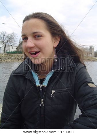 Girl Laughing At Photographer
