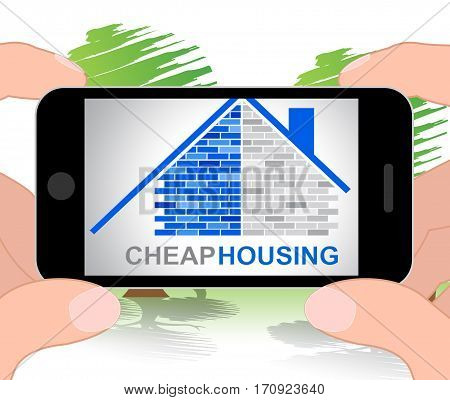 Cheap Housing Represents Low Cost Property 3D Illustration
