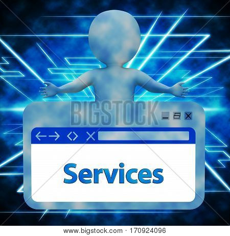Services Webpage Representing Website Assist 3D Rendering