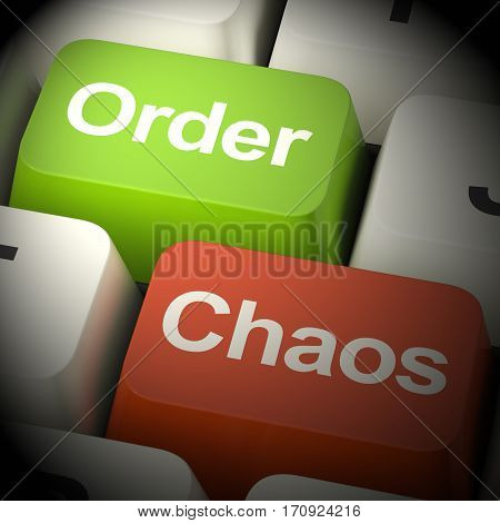 Order Or Chaos Keys Showing Organized 3D Rendering