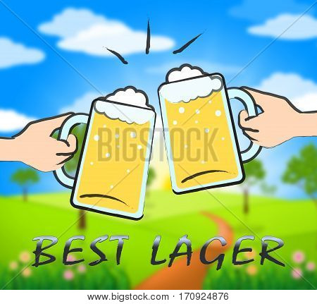 Best Lager Showing Public House And Drinking