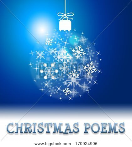 Christmas Poems Means Happy Festive Greeting Verse
