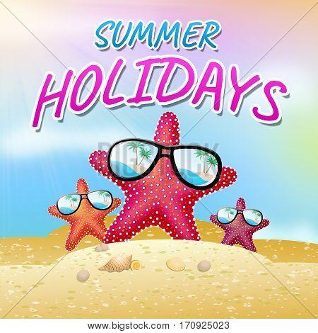Summer Holidays Represents Holiday Getaway 3D Illustration