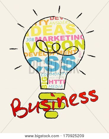 Business Lightbulb Represents Commercial Corporations 3D Illustration