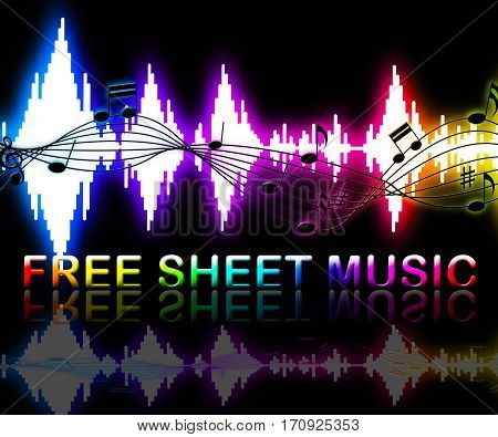 Free Sheet Music Shows Notation And Melodies