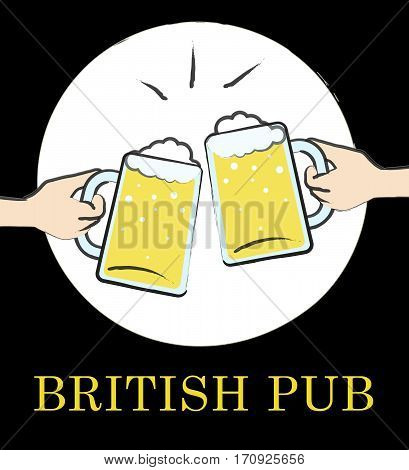 British Pub Means English Tavern Or Bar