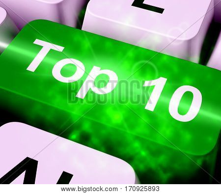 Top Ten Key Showing Best Rated 3D Rendering
