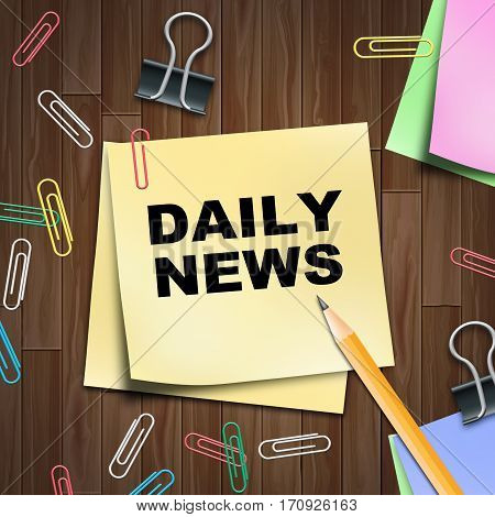 Daily Newspaper Shows Regular News 3D Illustration