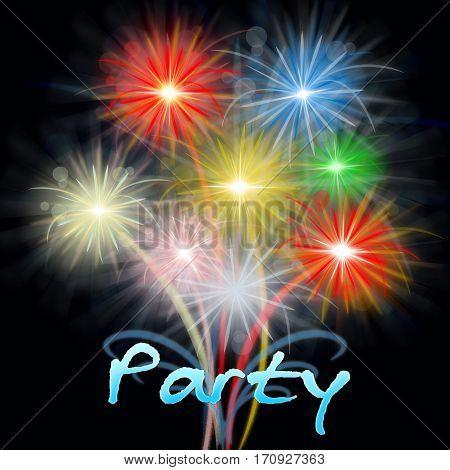 Fireworks Party Shows Exploding Pyrotechnics Explosive Celebration