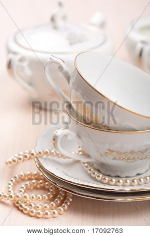 tazas de té elegante