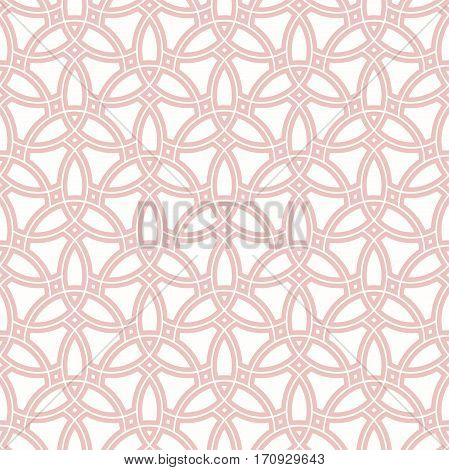 Seamless ornament. Modern geometric pattern with repeating elements. Light pink pattern