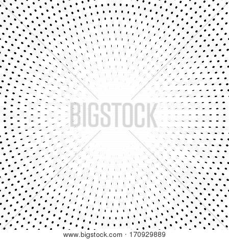 Geometric modern pattern. Fine ornament with black elements