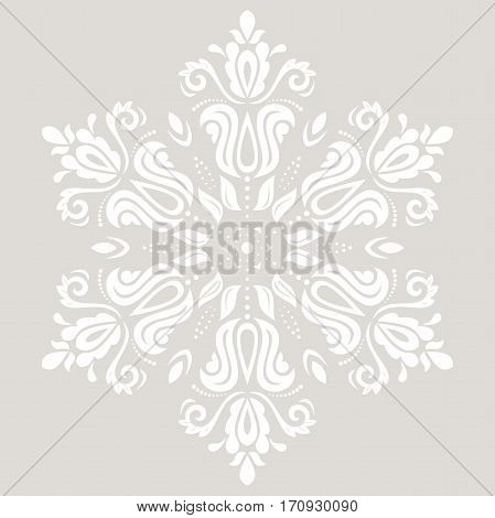Elegant ornament in the style of barogue. Abstract traditional pattern with oriental elements