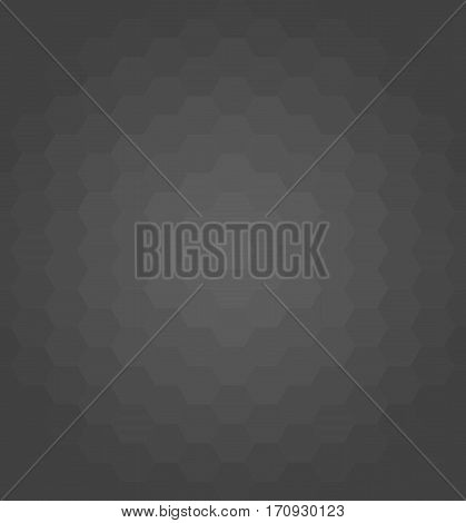 Geometric abstract background with dark hexagons. Pattern with flow effect