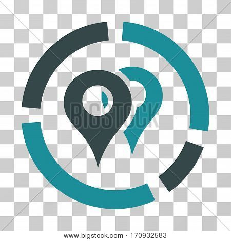 Geo Diagram icon. Vector illustration style is flat iconic bicolor symbol soft blue colors transparent background. Designed for web and software interfaces.