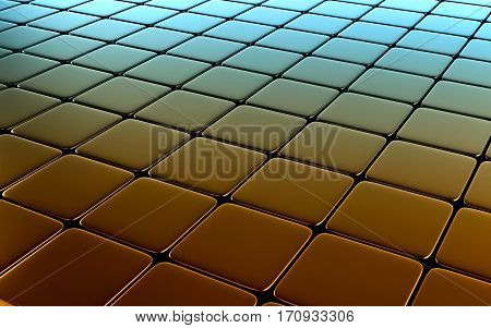 Color abstract image of cubes background. 3d rendering