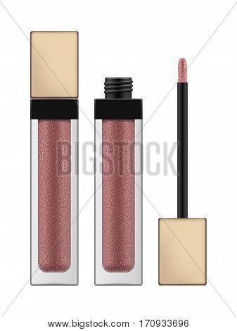 Vector Lip Gloss With Brush