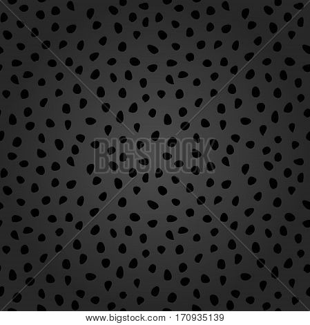 Seamless background with random elements. Tileable dark ornament. Dotted abstract background